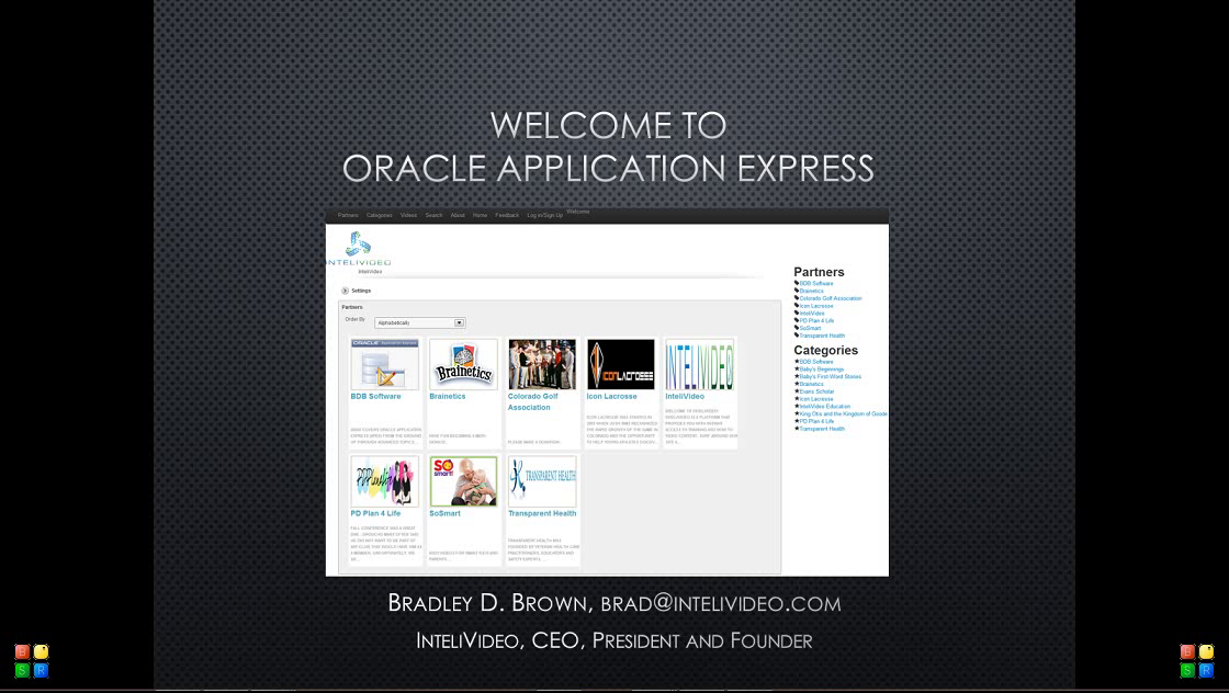 Oracle Application Express Intro by BDB Software