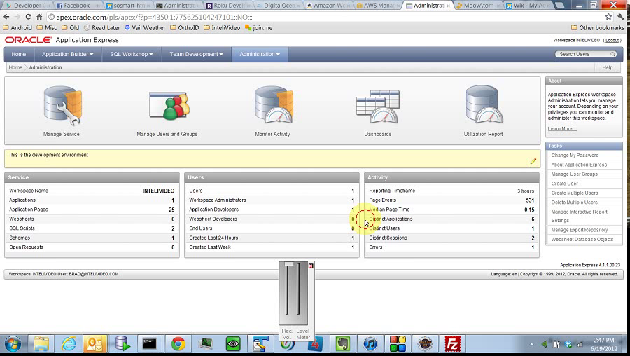 ApEx - Administration - Monitor Activity by BDB Software